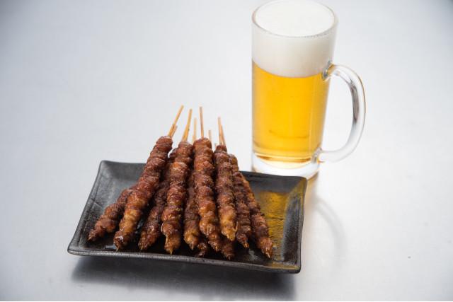 焼き鳥に合うお酒No2.とり皮×ビール